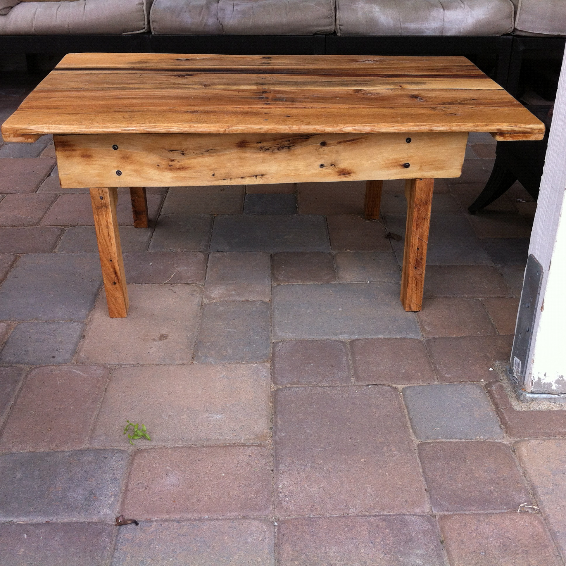 How To Make A Pallet End Table Small coffee or end table.