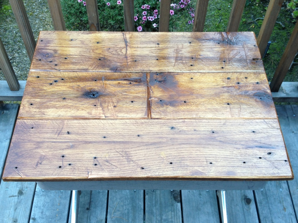 "Reclaimed Shipping Pallet - ""Smooth"" finish.  www.thecoastalcraftsman.com"