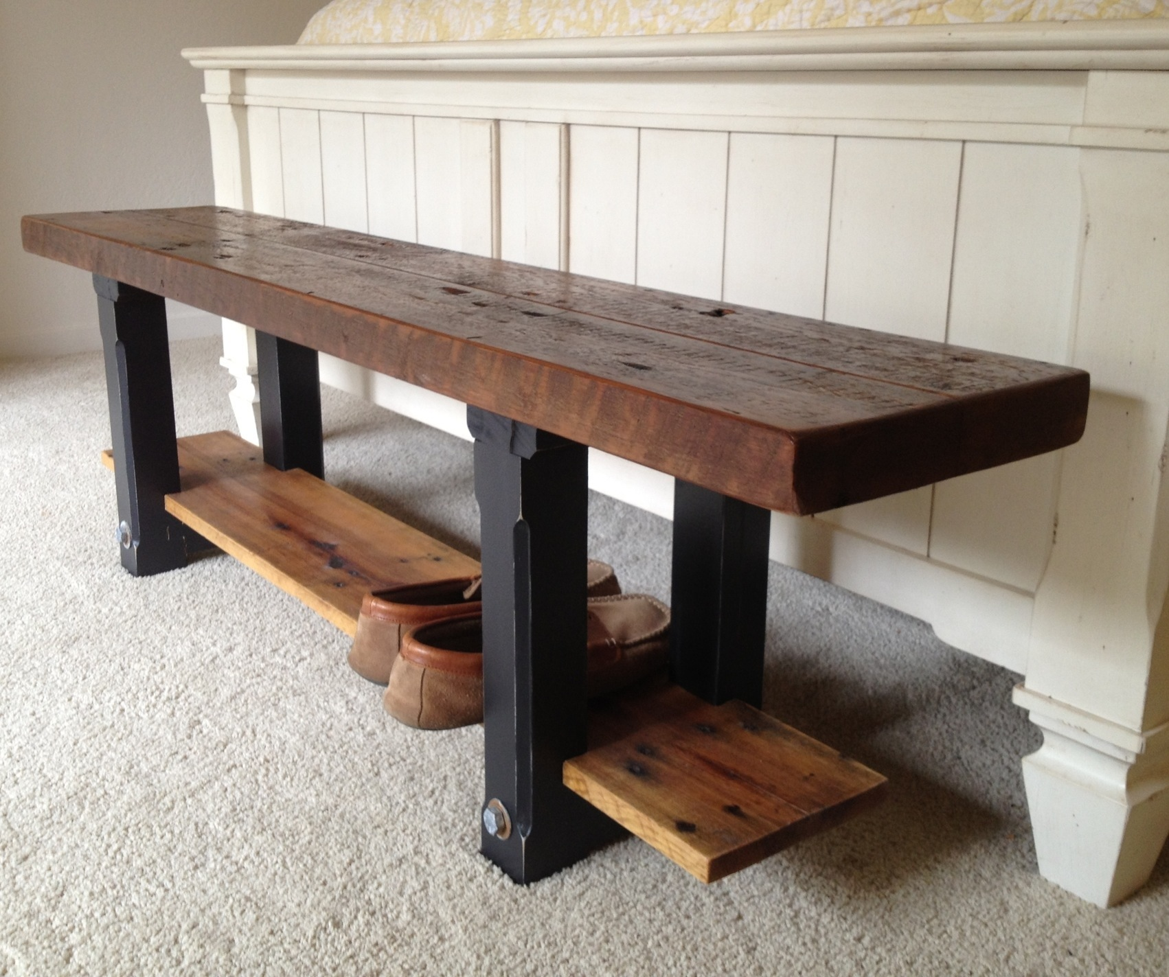 Reclaimed Wood Bench The Coastal Craftsman - Refurbished wood table tops