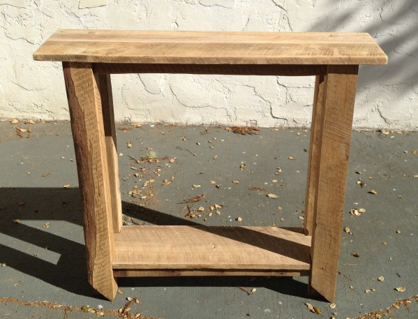 Tall Barnwood Table
