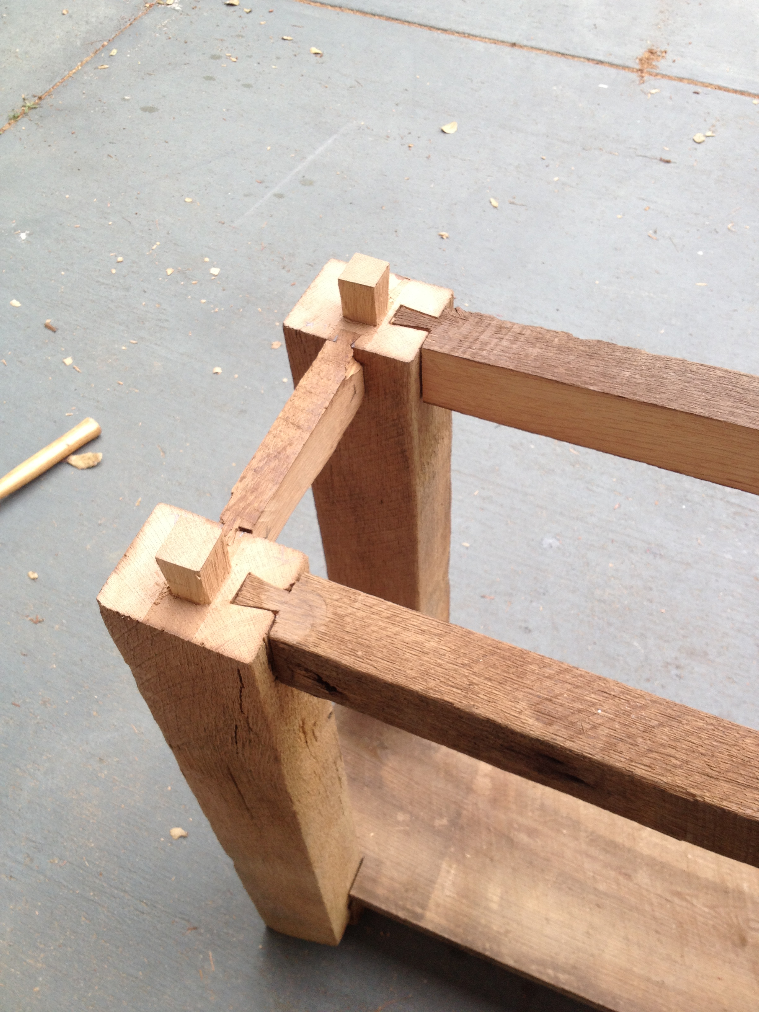 barnwood table joinery