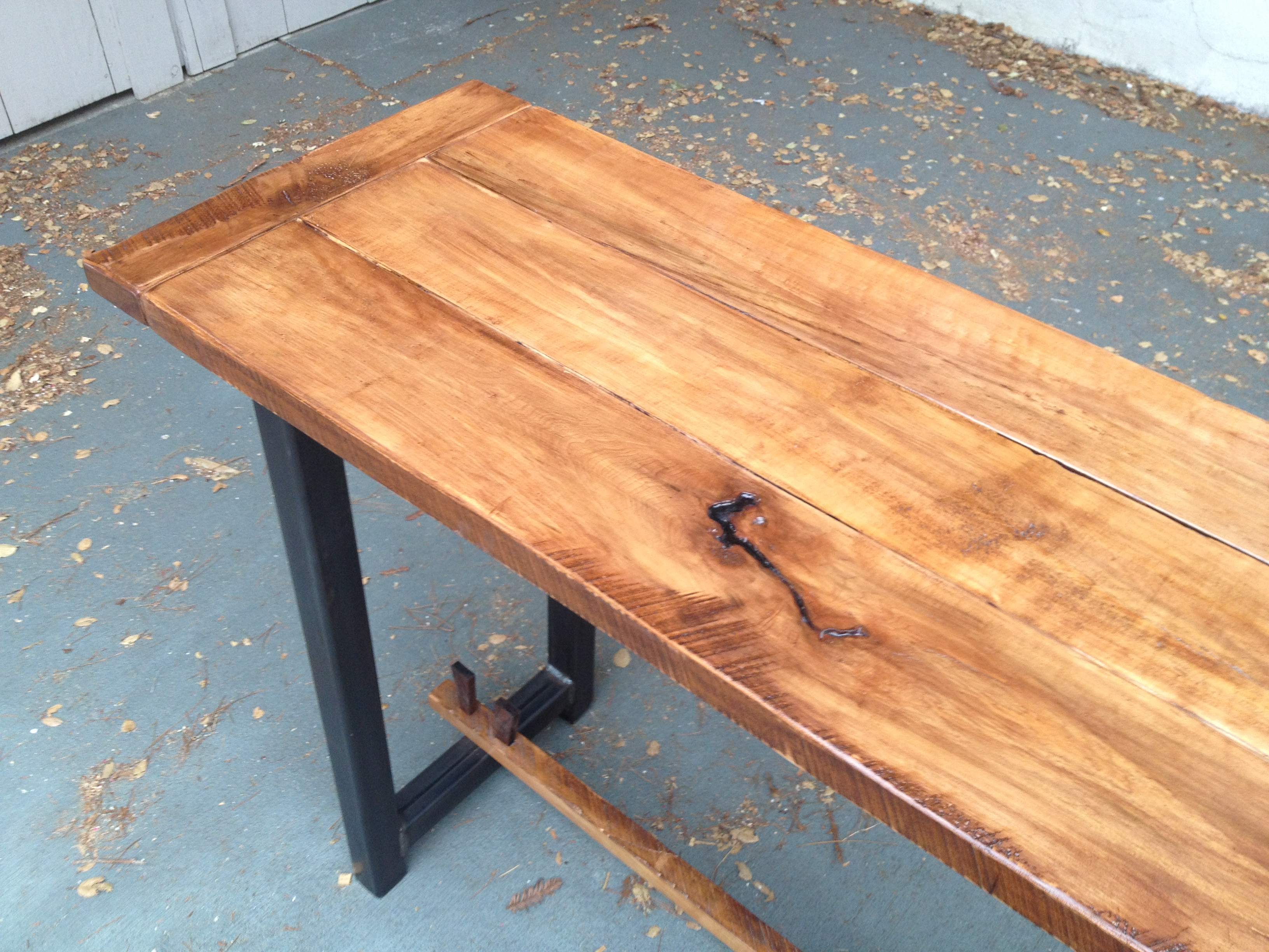 Maple And Metal Console 5