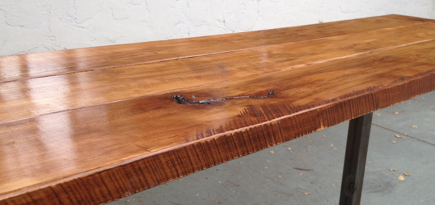 Maple And Steel Long Table The Coastal Craftsman