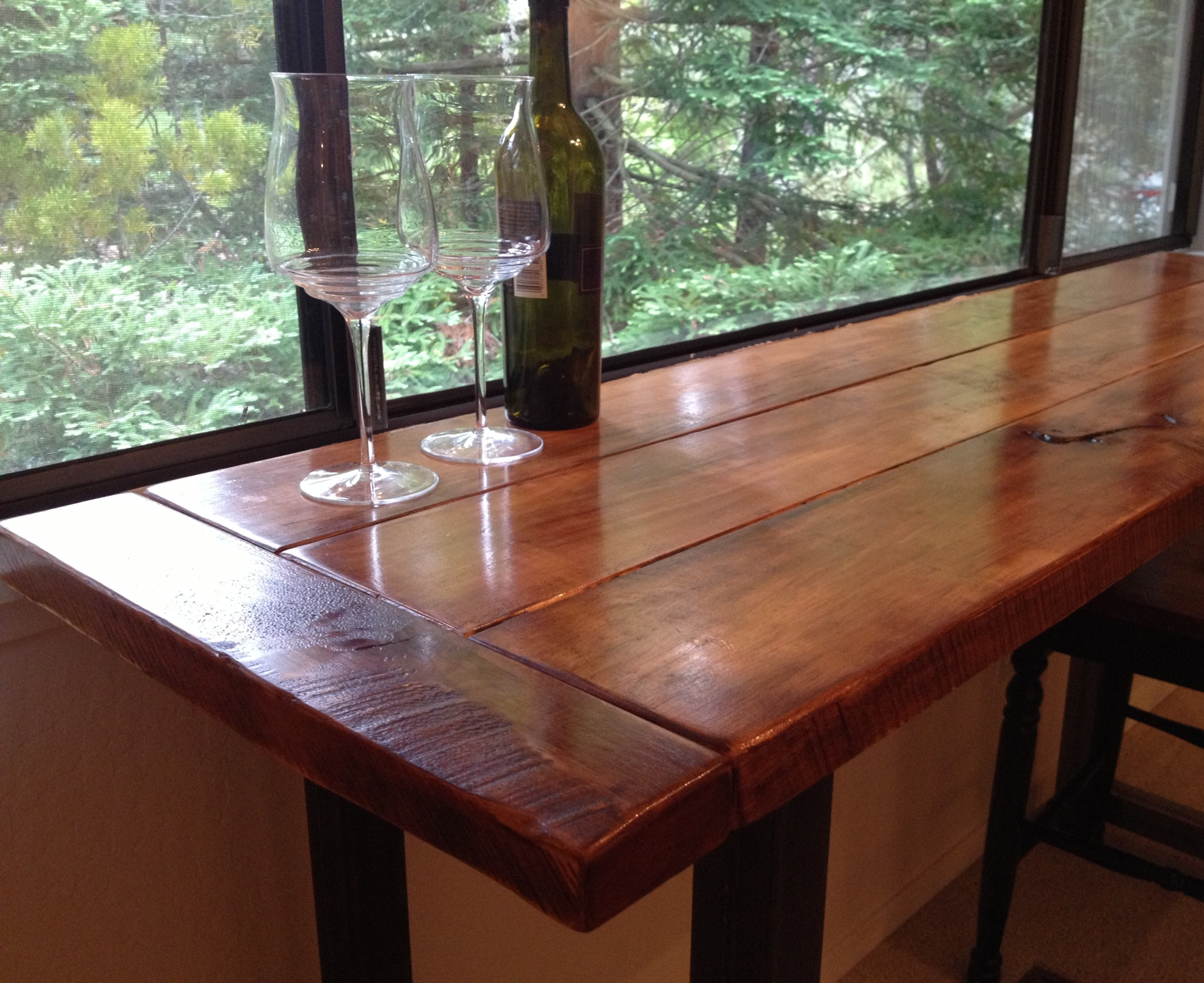 Narrow table the coastal craftsman - Long skinny dining table ...