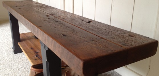 Reclaimed Wood Bench Finish