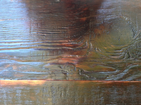 Reclaimed Douglas Fir close up