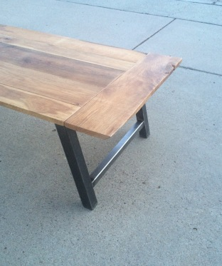 White Oak + Steel Coffee Table www.thecoastalcraftsman.com