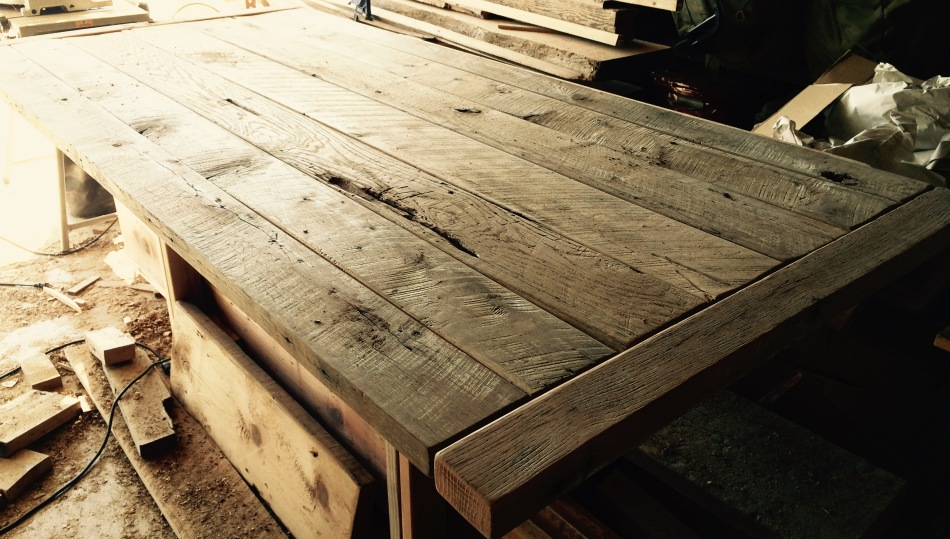 Oak Barnwood Table