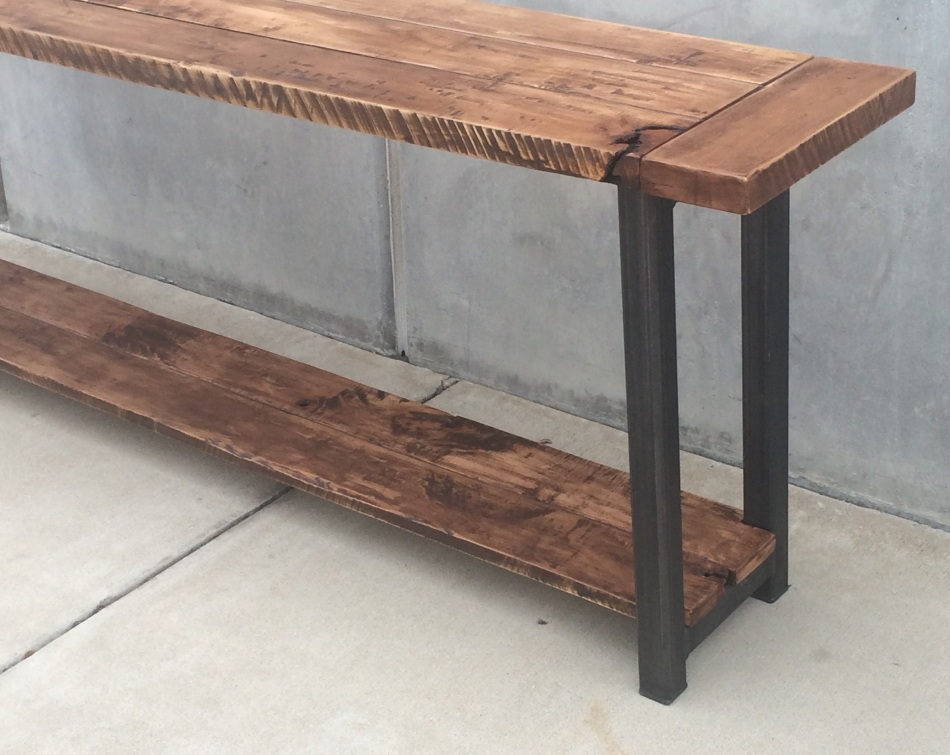 Maple and Steel Long Table J002