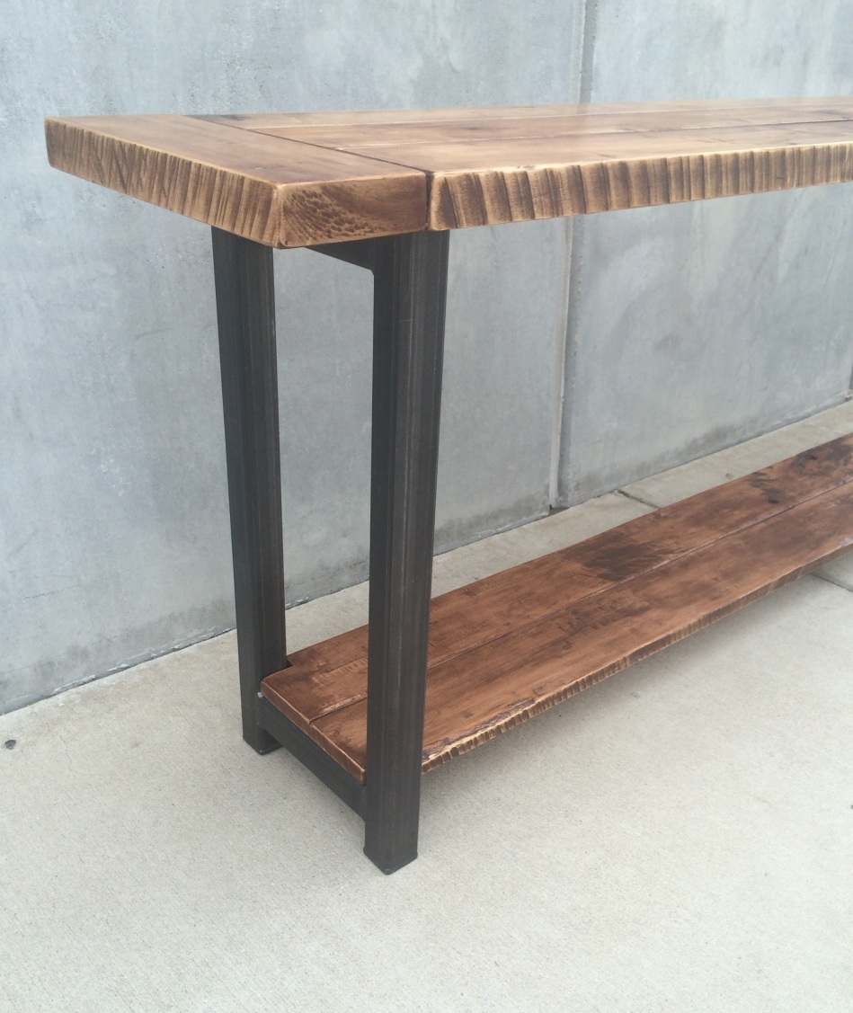 Maple and Steel Long Table J005