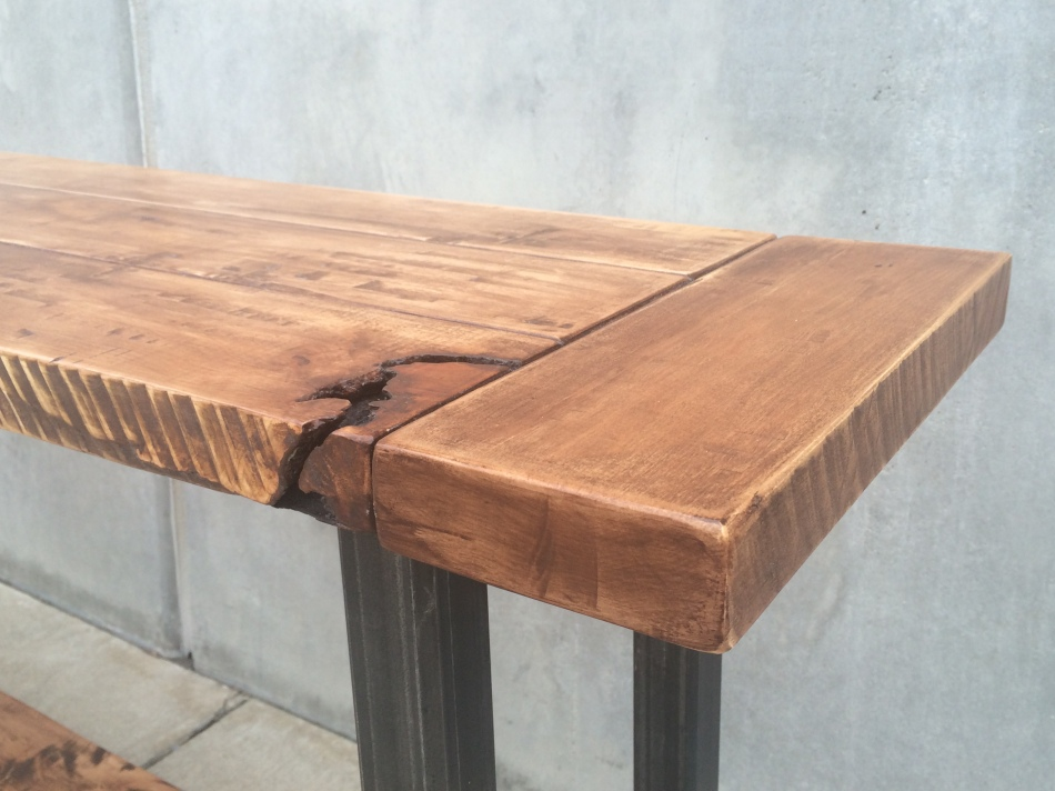 Maple and Steel Long Table J008